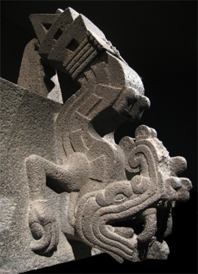 The Aztec fire serpent Xiuhcoatl, guardian of the celestial sun and an aspect of the 'refining fire' that purifies and enlivens the emotional centre