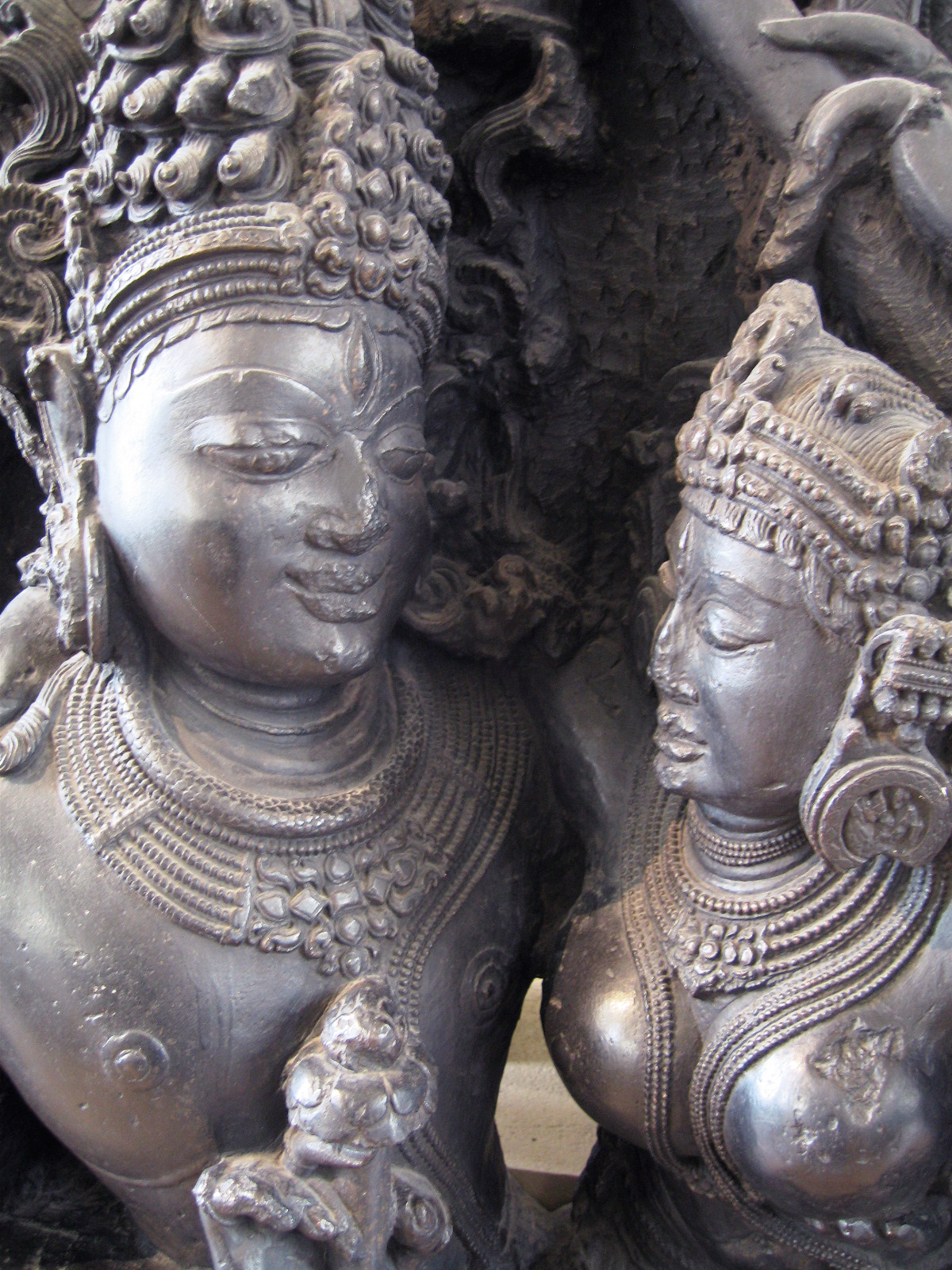 Shiva and his consort Parvati in their role of transforming earthly love into its consummation in a higher world